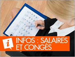 Infos salaires et congés