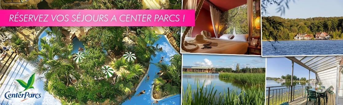 Réservez vos séjours à Center Parcs