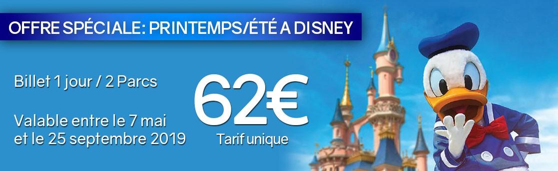 Offre Disney 62€ (Printemps/Été)